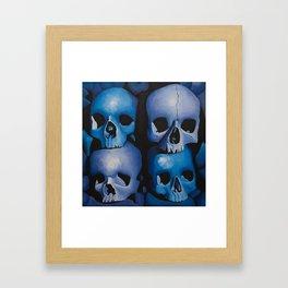 Blue & Purple Skulls Framed Art Print