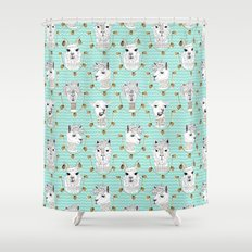 Llamas of Lima Shower Curtain
