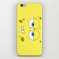 spongebob iPhone & iPod Skins featuring SpongeBob by Thorin