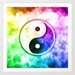 Transcendence Yin Yang Art Print