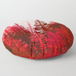 Pine Forest - Red and Pink Floor Pillow