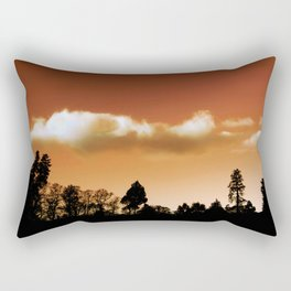 Silhouetted trees Rectangular Pillow