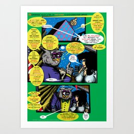Bird of Steel Comix – 6 of 8 (Society 6 POP-ART COLLECTION SERIES)   Art Print