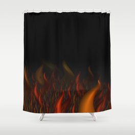 We Are All Burning Shower Curtain