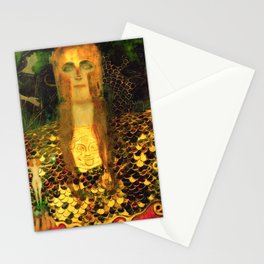 "Gustav Klimt ""Minerva or Pallas Athena"" Stationery Cards"