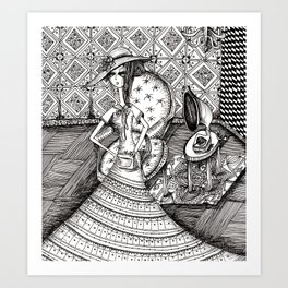 Hat and Chair Art Print