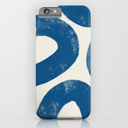 Blue Loops Abstract Art iPhone Case
