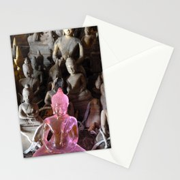Pink Plastic Buddha Stationery Cards