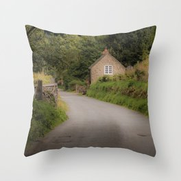 Dovedale Trail Cottage Throw Pillow