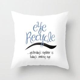 Eye Recycle Throw Pillow