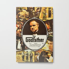 The Godfather, vintage movie poster Metal Print