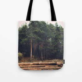 Sad timber industry Tote Bag