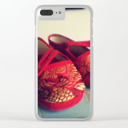Red shoes Clear iPhone Case
