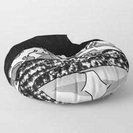 Mount Shasta Black and White Floor Pillow