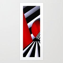 red white black -22- Art Print