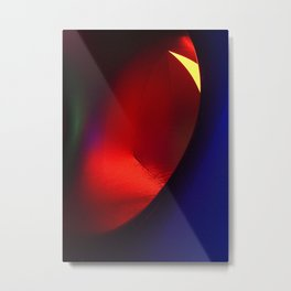 Red oval Metal Print