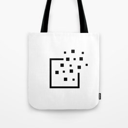 Pixels leaving the borders. Without Borders. Tote Bag