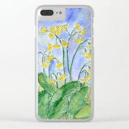 Cowslip (Primula veris) Clear iPhone Case