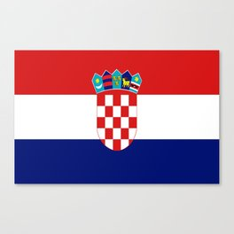 Flag of croatia -croatian, Hrvatska,croat,croacia,Zagreb,split,rijeka,osijek. Canvas Print
