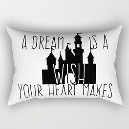 A Dream is A Wish Your Heart Makes Fantasy Princess Castle Rectangular Pillow