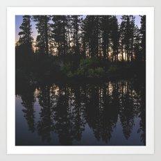 Manzanita Lake at Sunset Art Print