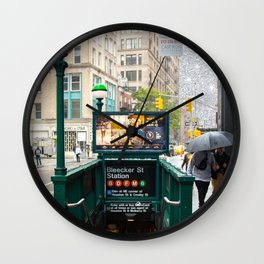 Bleecker Street Wall Clock