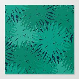 Deep Summer - Green Urchins Canvas Print