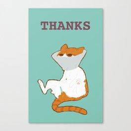 THANKS Canvas Print