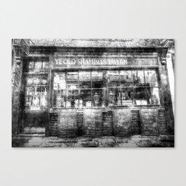 Ye Old Shambles Tavern York Vintage Canvas Print