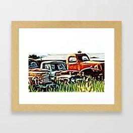 Trucking around Framed Art Print