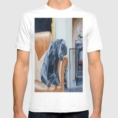 After the Walk MEDIUM White Mens Fitted Tee