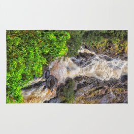 Waterfall in the rainforest Rug