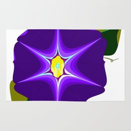 A Large Purple Morning Glory, Wildflower Series Rug