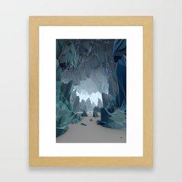 The Ice Cavern Framed Art Print