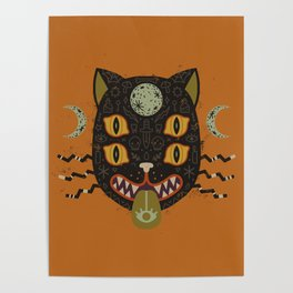 Spooky Cat Poster