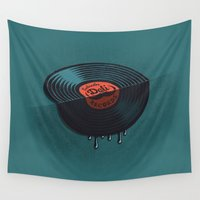 record Wall Tapestries featuring Hot Record by Carlitos Way