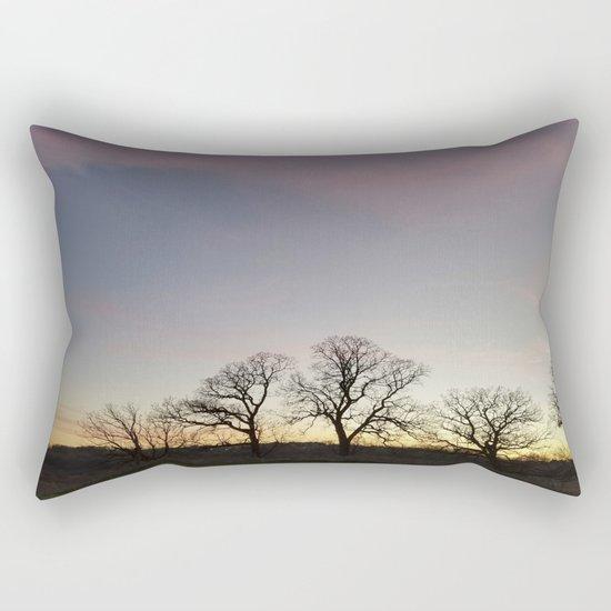 Autumn Sunset Silhouette - Pheasant Branch Conservancy Rectangular Pillow