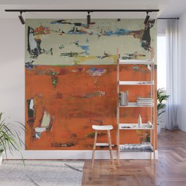 Roadrunner Bright Orange Abstract Colorful Art Painting Wall Mural