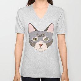 Green eyed kitty Unisex V-Neck