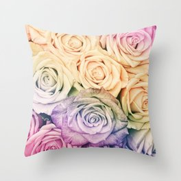 Some people grumble - Colorful Roses - Rose pattern Throw Pillow