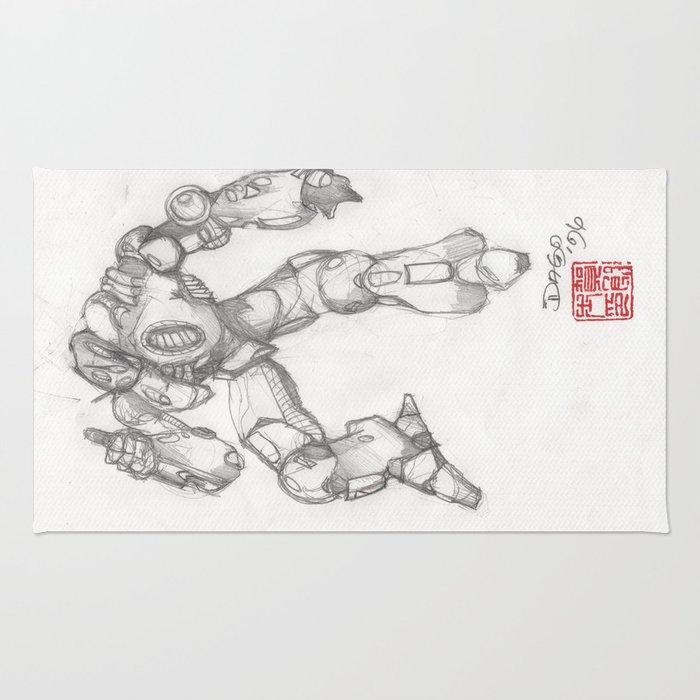 Mechanoid Rug