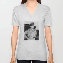 General MacArthur Unisex V-Neck