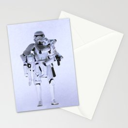 Trooper with Kids Stationery Cards
