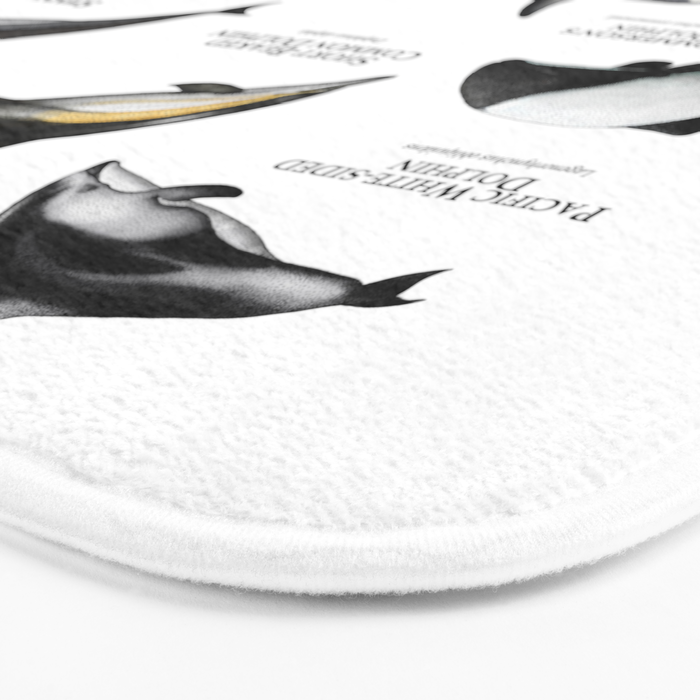 Dolphins of the World Bath Mat