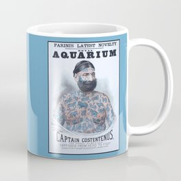 Captain Costentenus, tattoed from head to foot Poster Coffee Mug