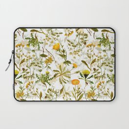 Vintage & Shabby Chic - Yellow Wildflowers Laptop Sleeve