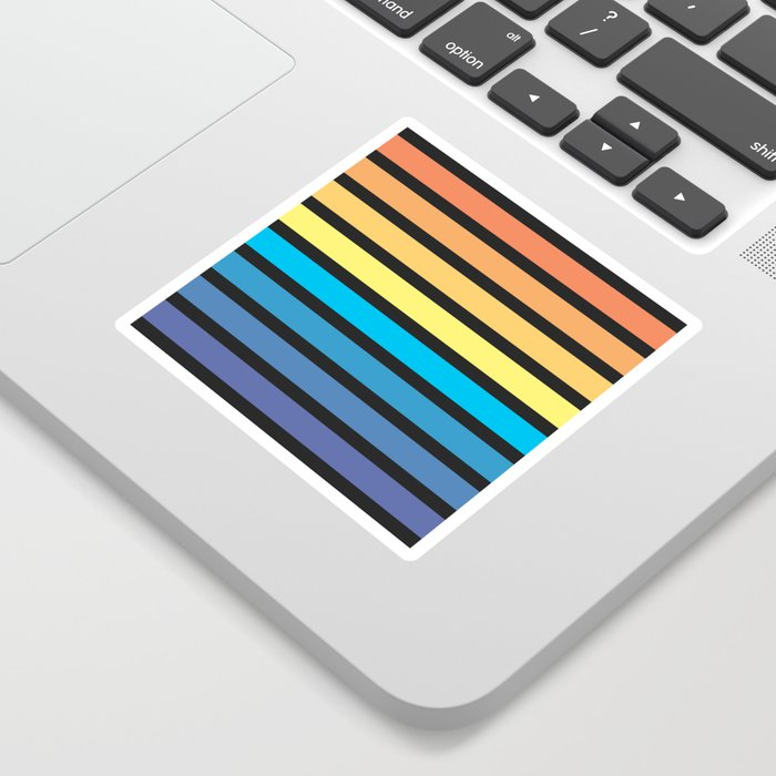 Stripe Sunset Sticker