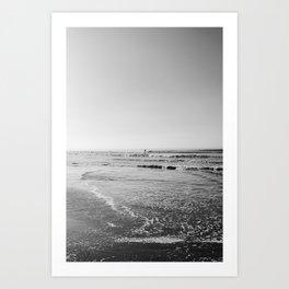Surfing Monochrome Art Print