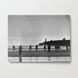 Beach Race Metal Print