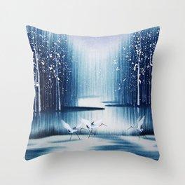Winter Egrets  Throw Pillow